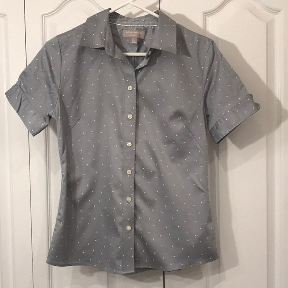 c102e5c8 Banana Republic Tops | Womens Button Down Fitted Shortsleeve Blouse ...